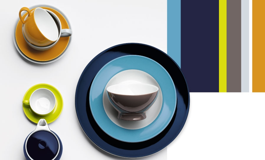 PORCELAIN TABLEWARE SOLID COLOR - MADE IN GERMANY