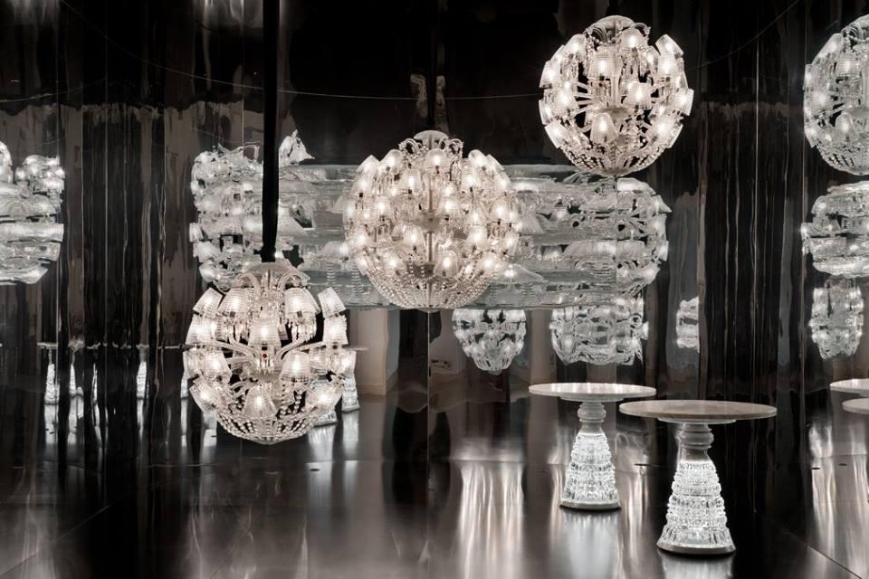 Crystal chandeliers LE ROI SOLEIL - designer MARCEL WANDERS.