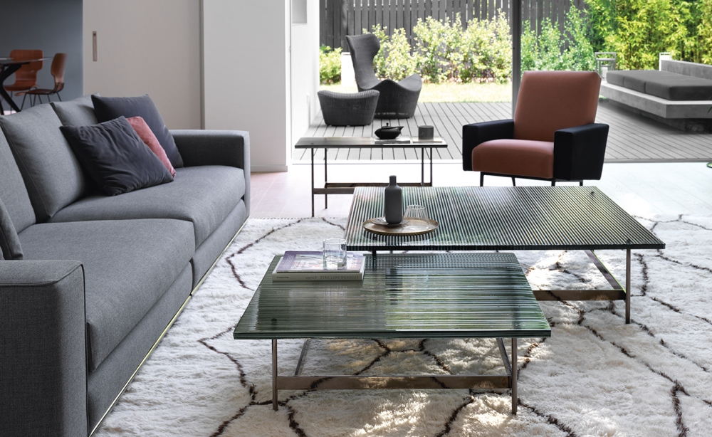 WAVES COLLECTION OF COFFEE-TABLES IN DV GLASS BY LUDOVICA + ROBERTO PALOMBA