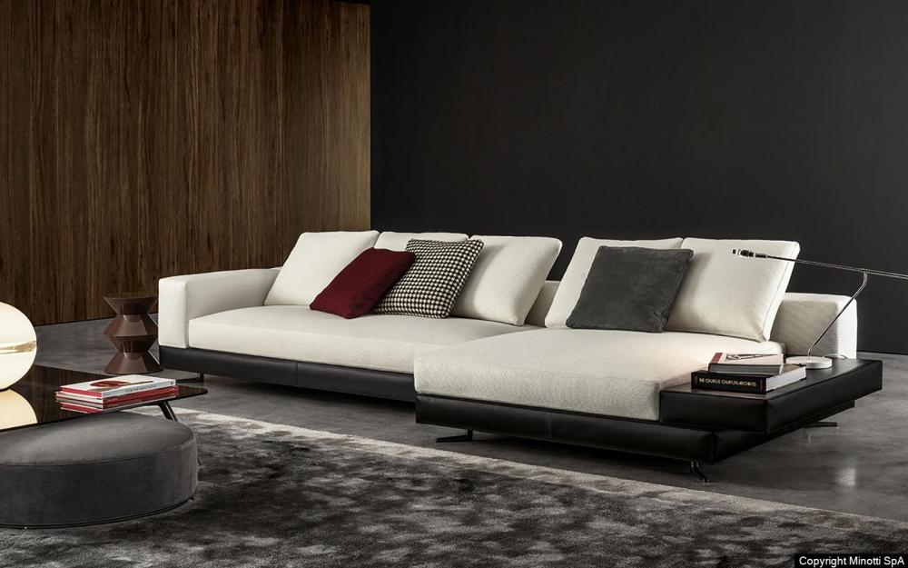 WHITE SADDLE-HIDE seating system by RODOLFO DORDONI