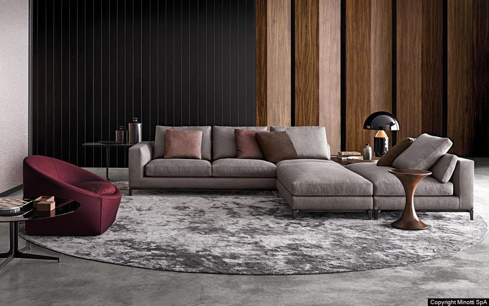 ANDERSEN sofa and ottoman by RODOLFO DORDONI