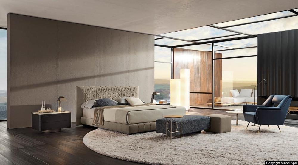 CURTIS BED by RODOLFO DORDONI