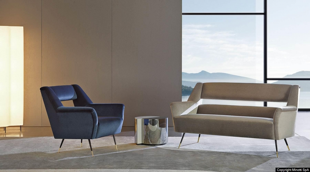ILE lounge sofa by GIGI RADICE. Minotti Historic Archive