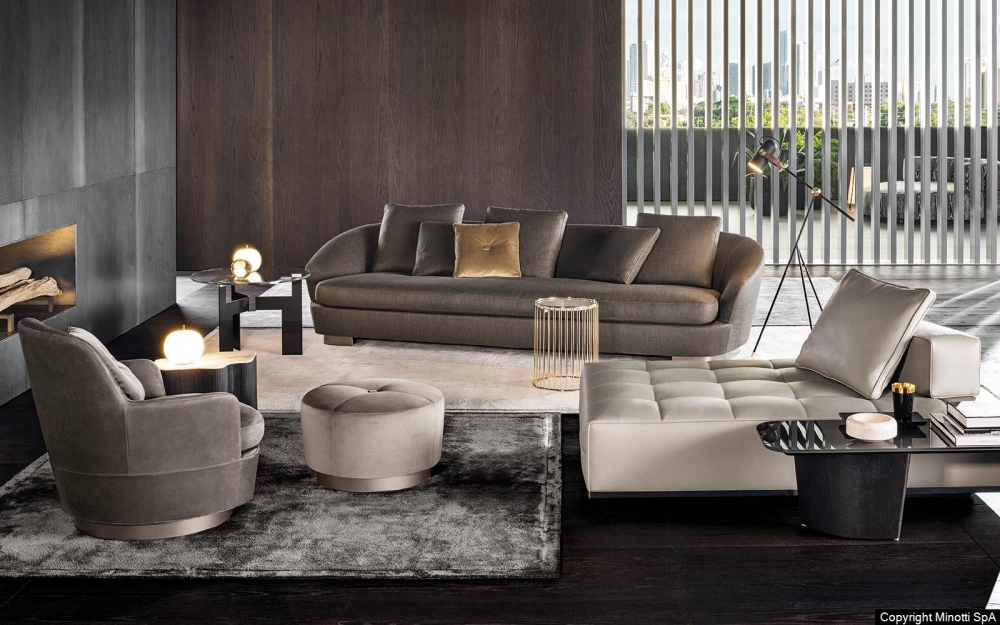 JACQUES HIGH ARMCHAIR and OTTOMAN by RODOLFO DORDONI